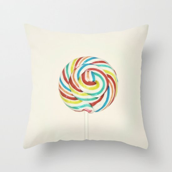 Sweet Rainbow Throw Pillow