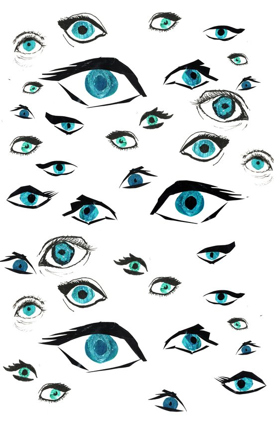 Girl Eyes Art Print