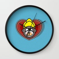 Indian Monkey God Icon Wall Clock