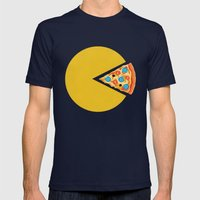 Pizza-Man Mens Fitted Tee Navy SMALL