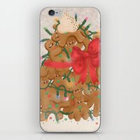 Merry Christmas from Gingerbread Men iPhone & iPod Skin