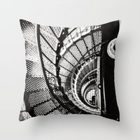 Spiral Staircase Black A… Throw Pillow