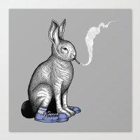 Carrot smoke trick Canvas Print