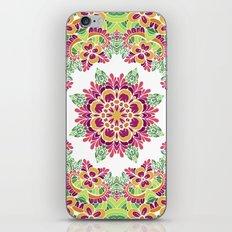 Floral mandala. Ethnic pattern iPhone & iPod Skin