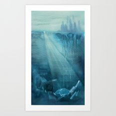 Earth-Birth - Ink wash painting Art Print