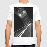 Tower Bridge London Mens Fitted Tee White SMALL
