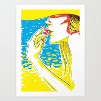 summer girl 2 Art Print