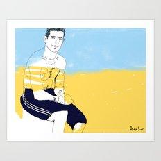 Sur la planche #02 Art Print