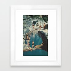 standing at the sea (with david delruelle) Framed Art Print
