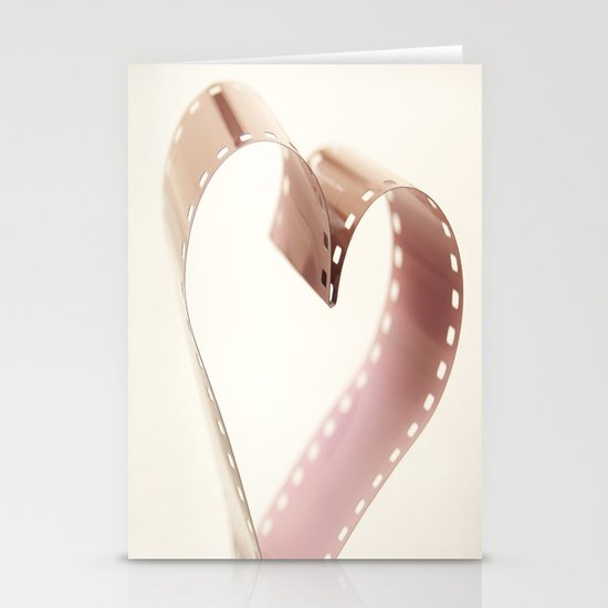 Photo Love , Film Heart Stationery Card