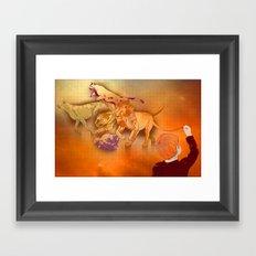 Raining Cats Framed Art Print