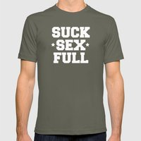 Suck Sex Full Mens Fitted Tee Lieutenant SMALL