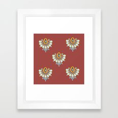 Hindi Pattern Framed Art Print