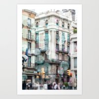 Barceona In Pastel Color… Art Print