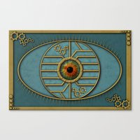 Steampunk Security Canvas Print