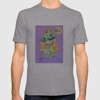 DEFEAT Mens Fitted Tee Athletic Grey SMALL