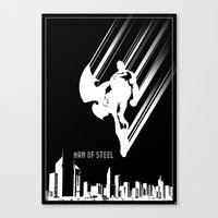 Superman Man Of Steel Po… Canvas Print
