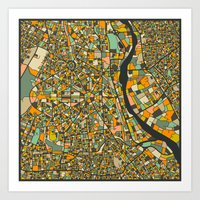 NEW DELHI MAP Art Print