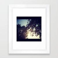 peak-a-boo sun Framed Art Print