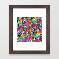 Jumble Bunny Framed Art Print