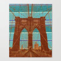 The Orange Bridge Canvas Print