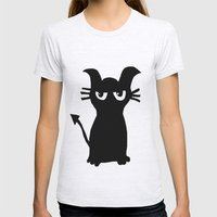 kitty Womens Fitted Tee Ash Grey SMALL