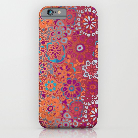 Psychedelic Ombre Flower Doodle iPhone & iPod Case
