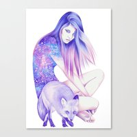 Galaxy Wanderer Canvas Print