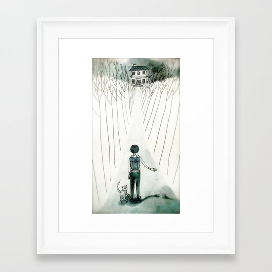 so lonely and so lost... Framed Art Print