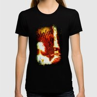 AC/DC Angus Young Womens Fitted Tee Black SMALL