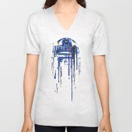 Unisex V-Neck featuring A Blue Hope 2 by SMAFO