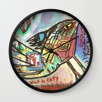 What to Eat Wall Clock
