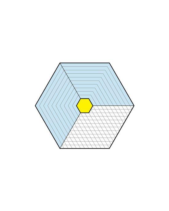 Hexagon Prism Art Print