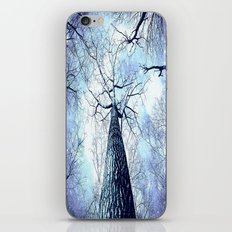 Wintry Trees Periwinkle Ice Blue Space iPhone & iPod Skin