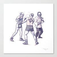 Freud, Jung, and Watts, walk into a bar... Canvas Print
