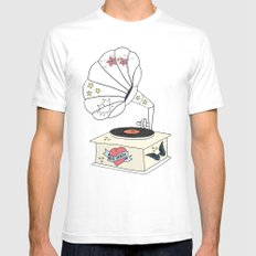 Music grandpa SMALL White Mens Fitted Tee