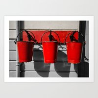 Fire Buckets Art Print