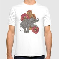 Rosebud Mens Fitted Tee White SMALL
