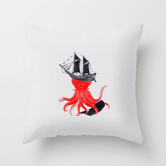 Beware Throw Pillow