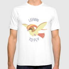 Pidgeot  learn to fly Mens Fitted Tee White SMALL