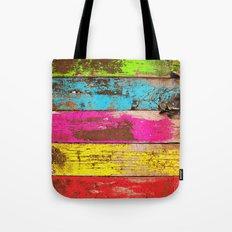 Vintage Colored Wood Tote Bag