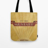 Spicy Brown Mustard Tote Bag