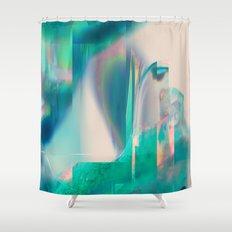 Pacifica glitch Shower Curtain