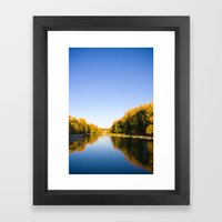 Autumn Reflections - Calgary, AB Framed Art Print