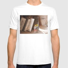 Remember History White SMALL Mens Fitted Tee