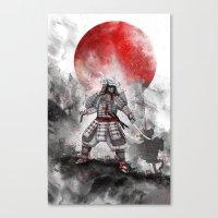 Banzai [The warrior on the hill] II Canvas Print