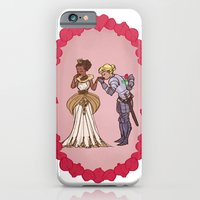 iPhone & iPod Case featuring The Queen and Her Knight by empressfunk