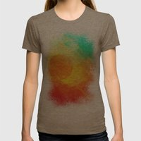 Dreamy Sunset Womens Fitted Tee Tri-Coffee SMALL