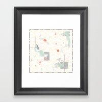 The Wildflower's Garden - Peach Framed Art Print