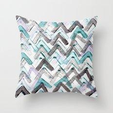 ZigZag Blue Throw Pillow